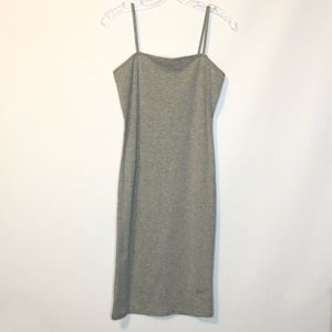 Topshop Womens Dress Bodycon Gray NEW Cotton